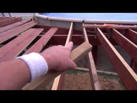 Pool Deck Building: Setting Joists