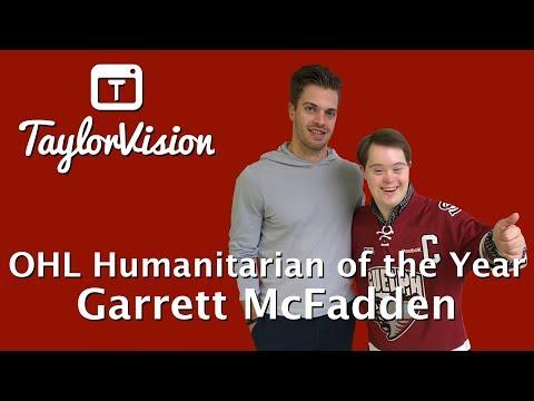 Guelph Storm Captain Garrett McFadden on TaylorVision