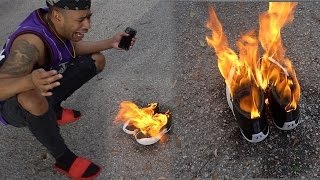 OMG WORST PUNISHMENT EVER!!!! JASMINE BURNED $1000 PAIR OF JORDANS :( !!!