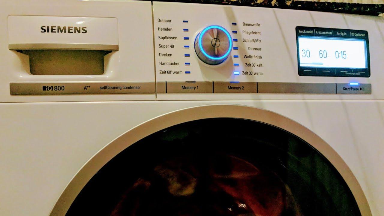 Siemens iq wärmepumpentrockner wt y selfcleaning condenser