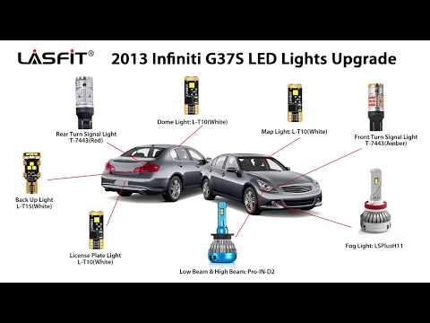 How to replace the entire set of lights on a 2013 Infiniti G37S – LED Bulbs Install Guide and Demo
