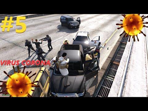 Làm Cảnh Sát GTA 5 #5 Bắt Xe Chở Người Trung Quốc Vượt Biên Nhiễm Virus Corona | Đại Dịch Trong Game