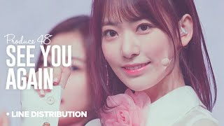PRODUCE 48「See You Again」Line Distribution