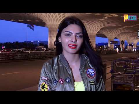 Sherlyn Chopra Spotted At International Airport Travelling To Nepal - Full Interview