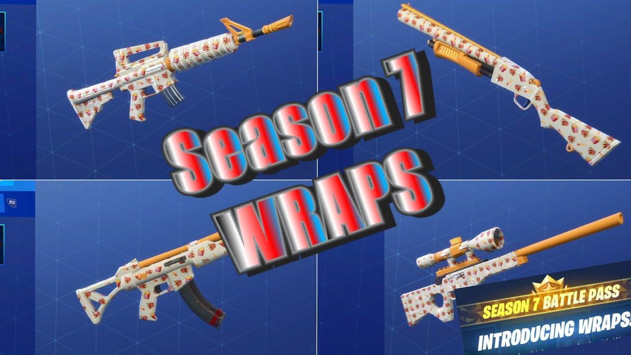 Fortnite Season 7 Weapons Vehicles Wraps Showcase Youtube