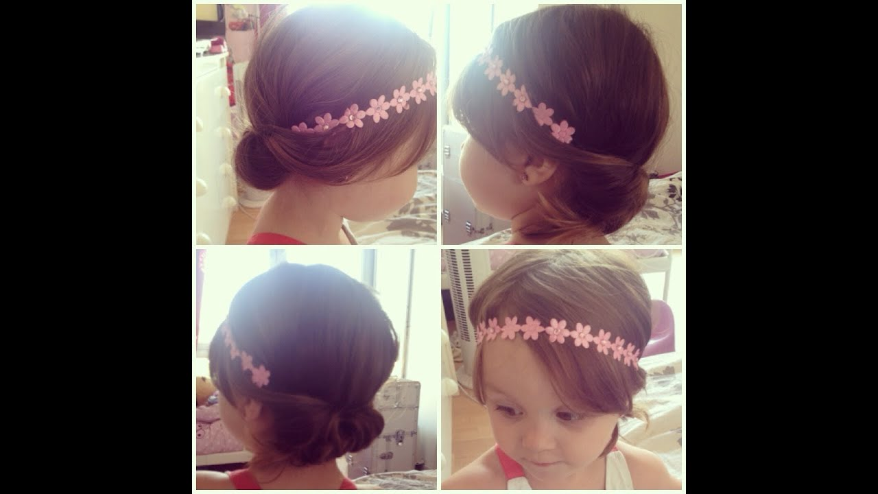 Coiffure fille 2 ans mariage