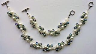 DIY Elegant Beads Bracelet and Necklace. Beading tutorial