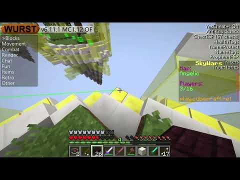 Wurst 1.12 Minecraft Hack client Download+Gameplay