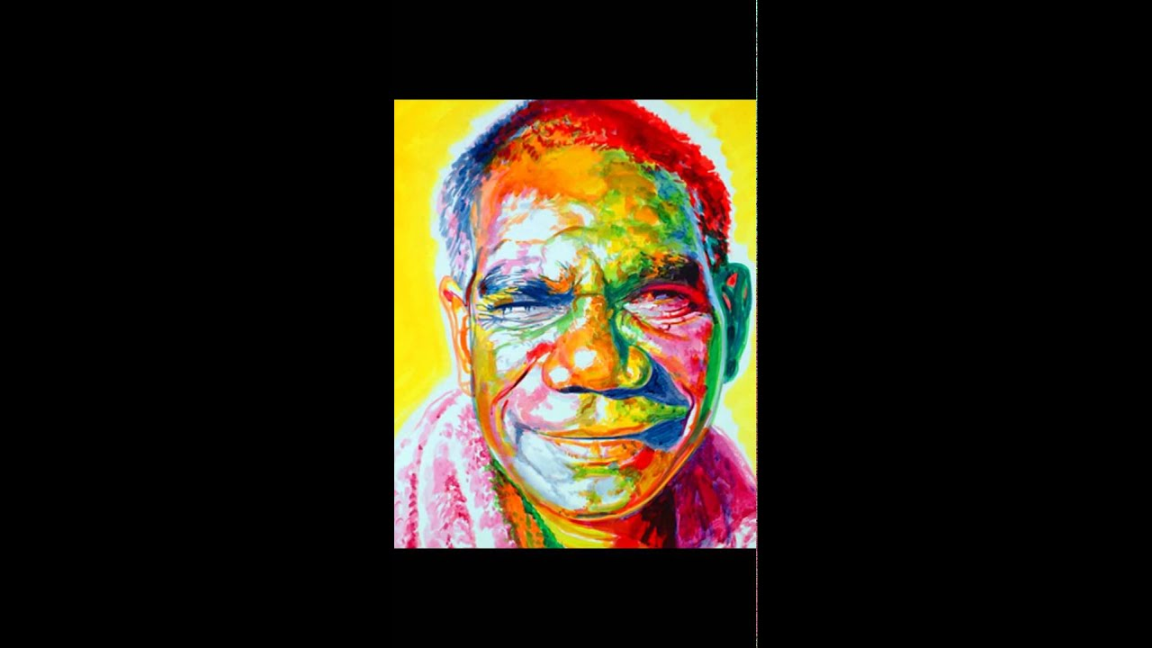 25 Colorful Portrait Paintings By Stephen Bennet - YouTube