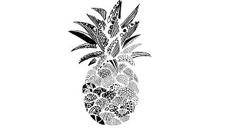 How To Draw A Pineapple Step By Step    Artistic Pineapple Drawing   Creative  Pen Drawing