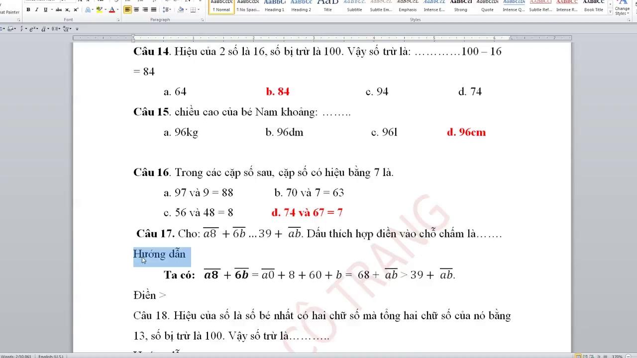 Tuyển tập 240 bài toán ôn thi cấp Trường Violympic Toán 2 năm học 2018 – 2019 có giải chi tiết