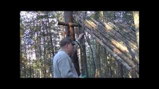 Lean To Shelter Construction Part 1