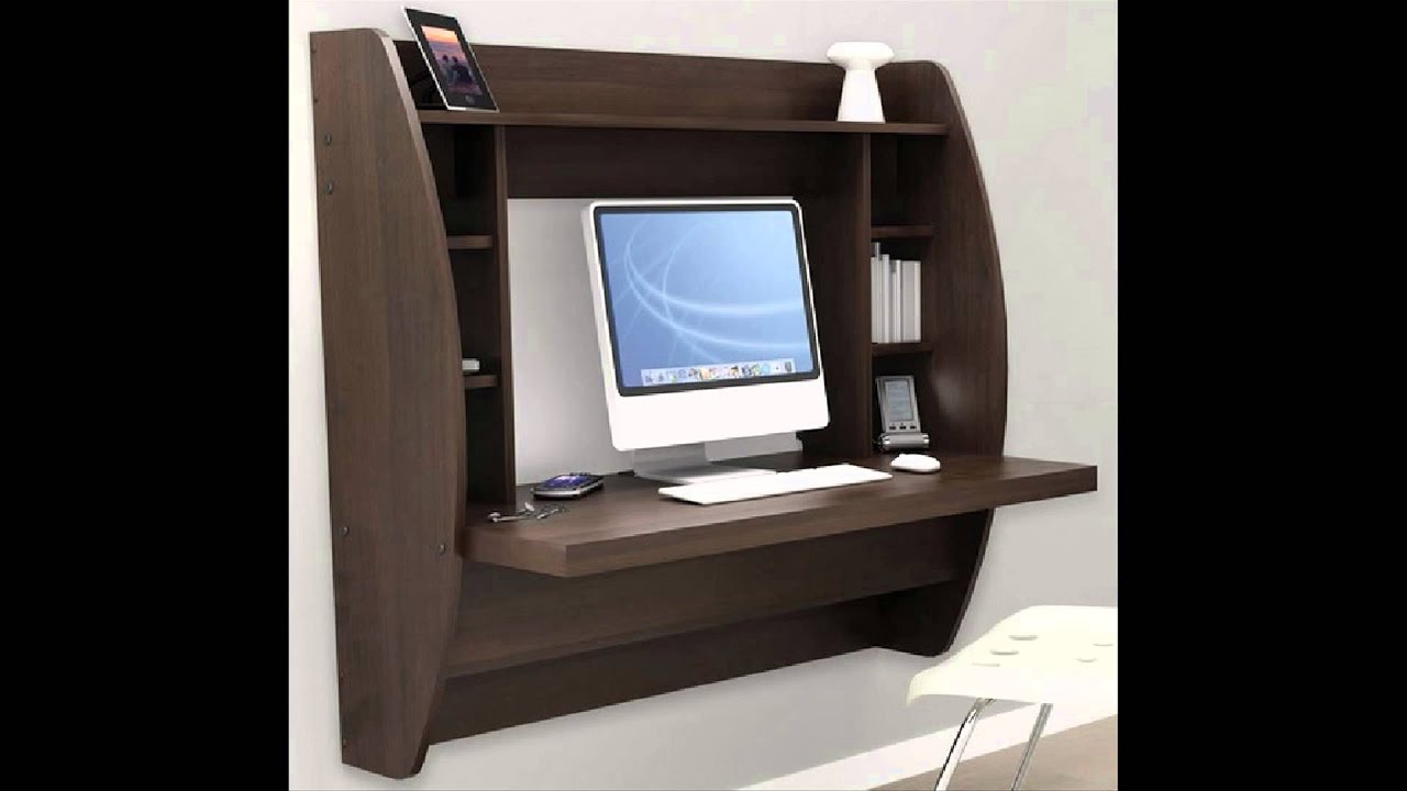 Beautiful Wall Mounted Computer Desk - YouTube