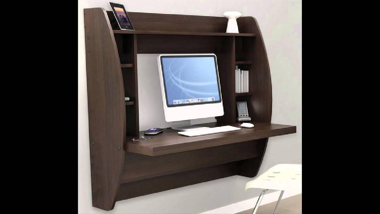 Beautiful Wall Mounted Computer Desk - YouTube