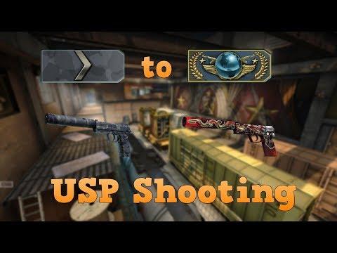 Silver 1 to Global Elite ★ USP shooting