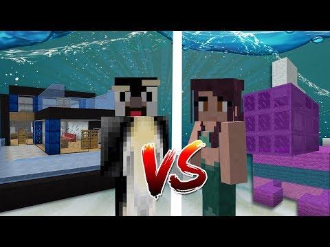 Minecraft   GIRLFRIEND VS BOYFRIEND UNDERWATER BUILD BATTLE!