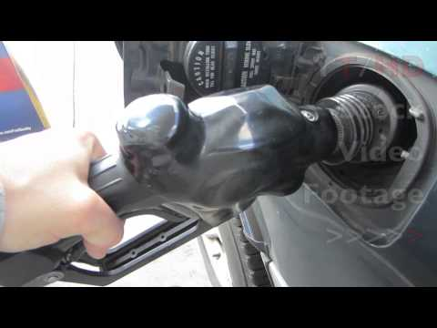 Filling Up 87 Unleaded Octane Fuel at Gas Station Nearby w/ Lowest Price | HD Stock Video Footage