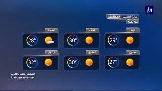 النشرة الجوية الأردنية من رؤيا 21-8-2017