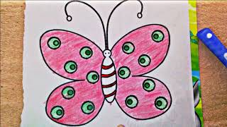 Butterfly _ How to draw a beautiful butterfly/ Easy drawing step by step- coloring book