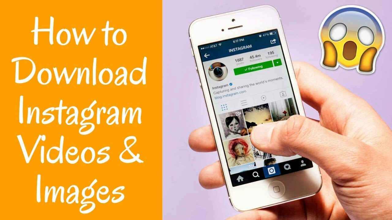 How To Download Instagram Videos Images 2018 Youtube