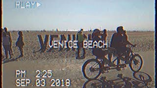 Venice Beach 80s Retro Style Footage Using Vintage VHS Camcorder 📹 Walk Back in Time