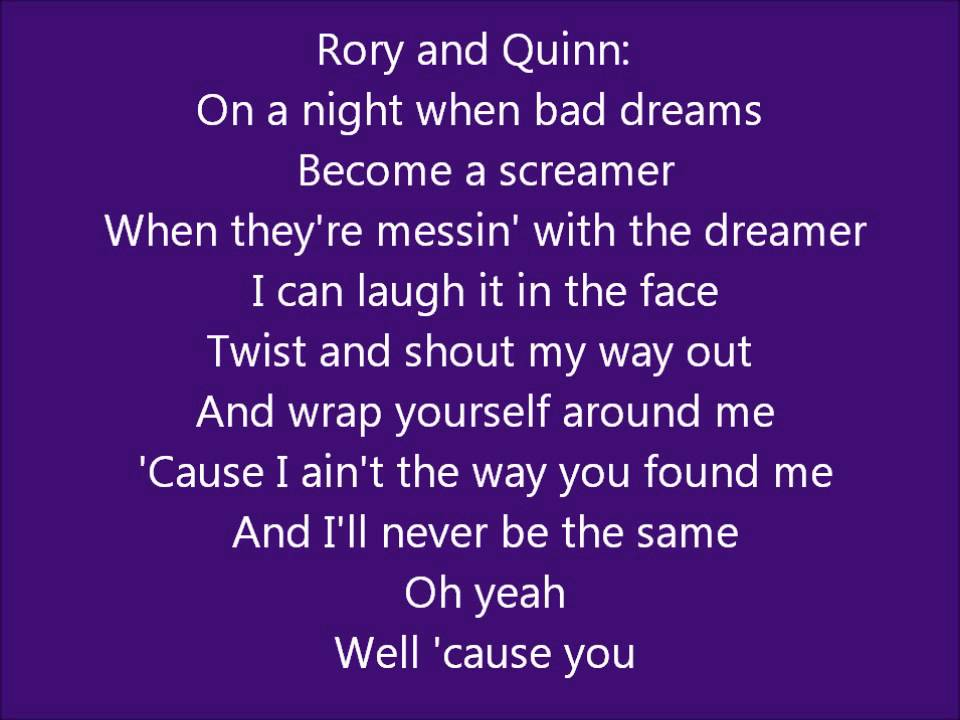 Lyric rory lyrics : Glee - I can't Go for That/You make my dreams come true - Lyrics ...