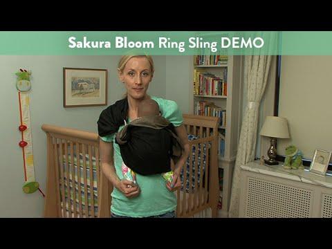 Sakura Bloom Ring Sling Demo | CloudMom - YouTube