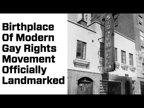 Birthplace of Modern Gay Rights Movement Gets Landmarked
