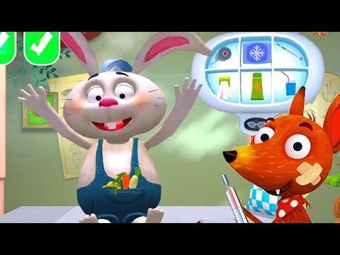 Ветеринар для лисенка-детский мультик игра сказка играем в доктора лечим зверей видео для детей