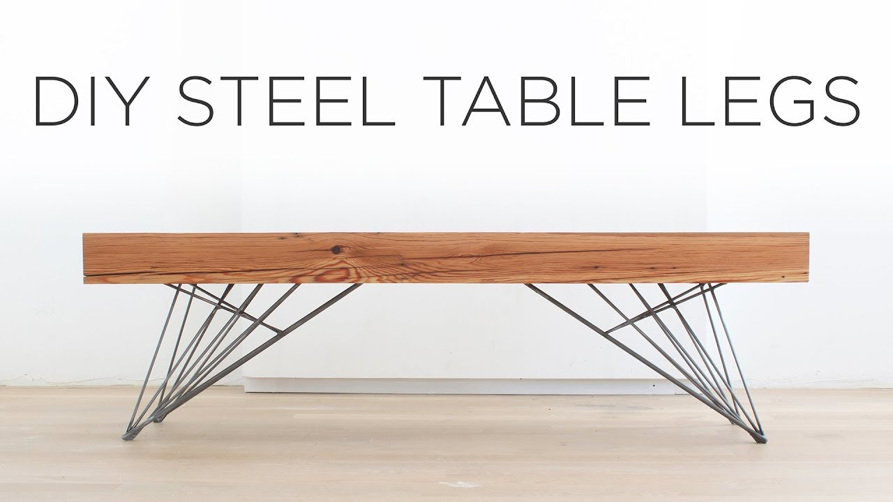 Diy Desk With Hairpin Legs Diy Steel Table Legs How To Weld Hair Pin Style Legs