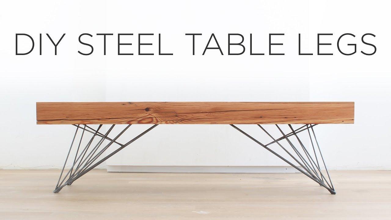 DIY Steel Table Legs | How to weld hair pin style legs | Doovi