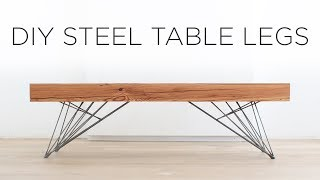 DIY Steel Table Legs | How to weld hair pin style legs