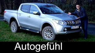 Mitsubishi L200 FULL REVIEW test driven all-new 2016 Triton Series 5 neuer Pickup onroad offroad