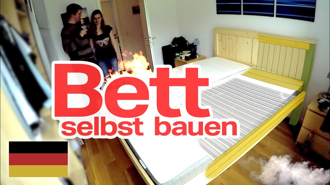 bett selber bauen diy deutsch german doovi. Black Bedroom Furniture Sets. Home Design Ideas