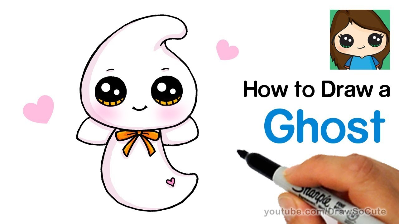 How to Draw a Cute Ghost Easy | Beanie Boos - YouTube