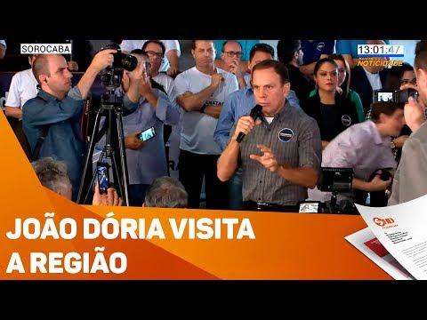 João Dória visita a região - TV SOROCABA/SBT