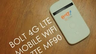 [REVIEW] Bolt 4G LTE Mobile Wifi ZTE MF90