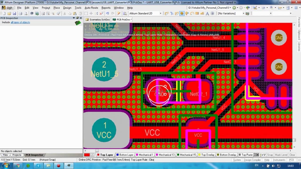Altium#11_3 USB UART Converter CP2102 by PCB Lessons