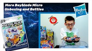 Beyblade Micros Unboxing and Battles Pt 2