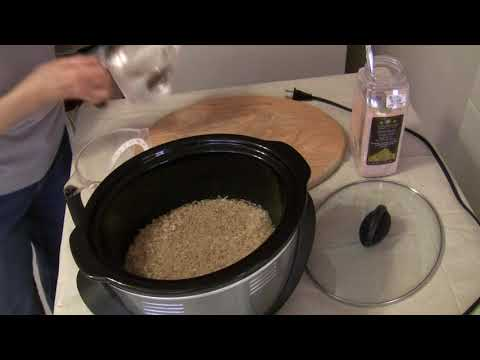 Cook Brown Rice In The Crock Pot (Pt 2...Increased Recipe)