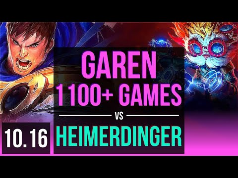 GAREN vs HEIMERDINGER (MID) (DEFEAT) | 5.3M mastery points, 1100+ games | NA Diamond | v10.16