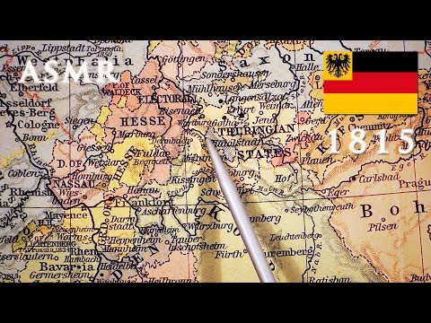 ASMR Map Of German Confederation 1815 | Pointer Tracing