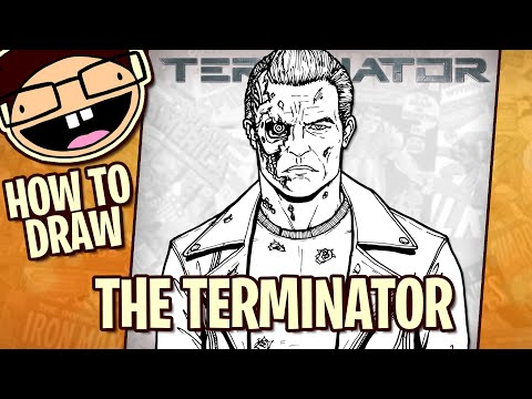 How To Draw THE TERMINATOR T-800 (Terminator 2: Judgment Day) | Narrated Easy Step-by-Step Tutorial
