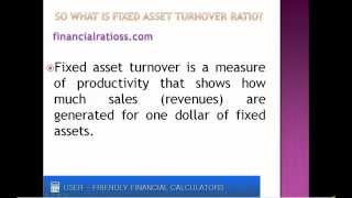 What is fixed asset turnover ratio?