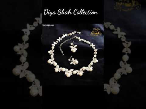 Pearls embellished Set I Pearl Stone Jewelry I Pearls Embellished I Artificial Pearl Jewelry I Pearl