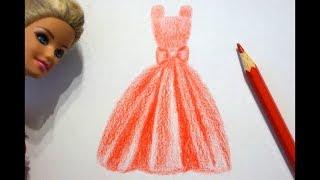 Barbie Kleid zeichnen lernen