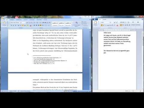 Microsoft Office Word - Abstand zwischen Text und Fußnote/Fußnotentrennlinie verkleinern/vergrößern