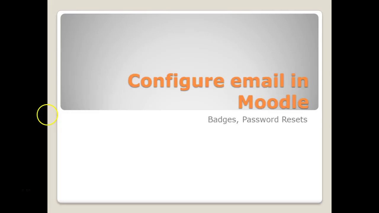 Configure Outgoing Email In Moodle Youtube