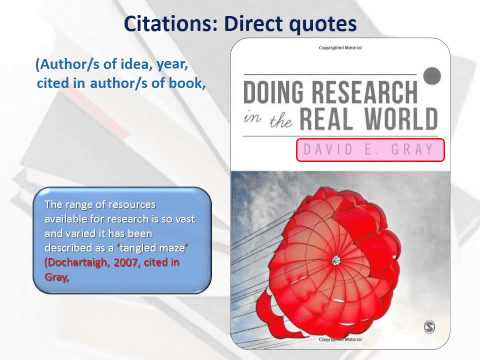 Secondary referencing: how to cite and reference an author cited in another text