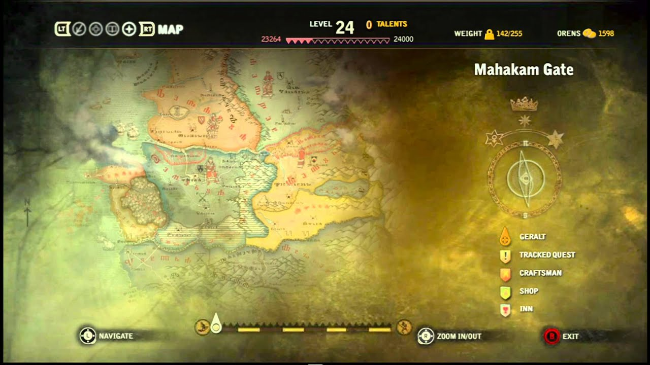 Zooming On The Map In The Witcher 2 Youtube